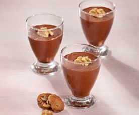 Crema de chocolate con nueces