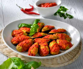 Mejillones rellenos al estilo de Puglia