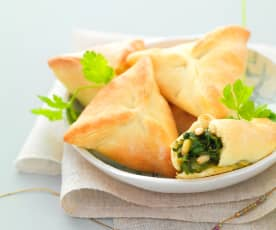 Spinach turnovers (fatayer)