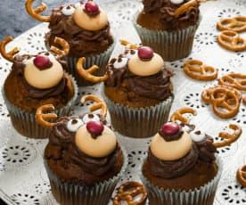 Vánoční cupcaky - sobi