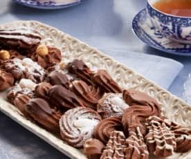 Frolle ricce al cacao (senza uova)