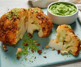 Cauliflower with Pea Purée