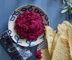 Beetroot, Parmesan and cashew dip