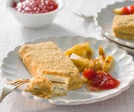 San Jacobo con salsa de tomate (Cheesecake)