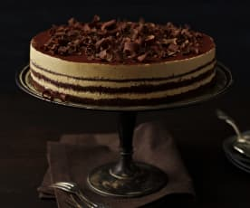 Schoko-Mocca-Sahne-Torte