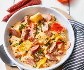 Kartoffel-Gulasch mit Kabanossi
