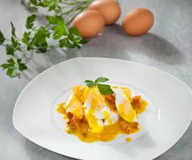 Huevos duros en salsa verde