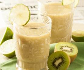 Refresco de piña y kiwi