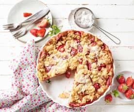 Erdbeer-Rhabarber-Clafoutis