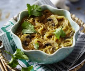 Asiatische Curry-Champignon-Suppe