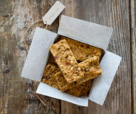 Wheat, nut and dairy free muesli slice