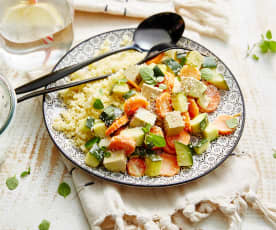 Curry de légumes à la semoule (sous-vide)