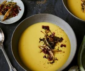 Orientalische Blumenkohl-Cremesuppe