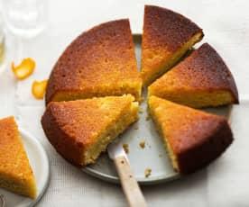 Gâteau aux amandes et à la mandarine