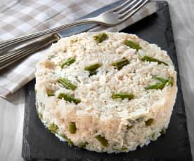 Tortino di riso in salsa al Gorgonzola