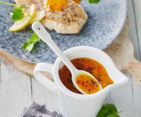 Mango-Chili-Chutney zu Fisch und Geflügel
