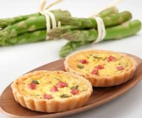 Tartellette con zabaione salato agli asparagi (senza glutine)
