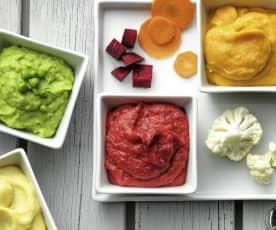 Puré de batata e legumes