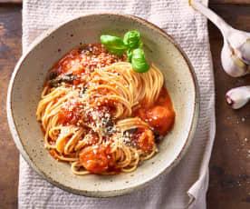 Tomaten-Knoblauch-Pasta