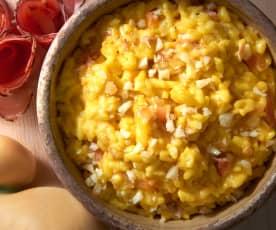 Rizoto s uzeným sýrem