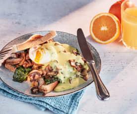 Eggs Benedict mit Kräuter-Hollandaise