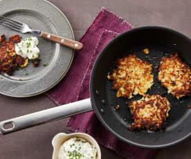 Sauerkraut-Kartoffel-Puffer