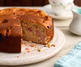 Špaldový koláč s rebarborou a zázvorem