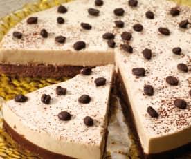 Cheesecake de chocolate y café