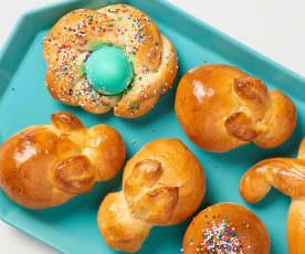 Lemony Bunny Bread Rolls
