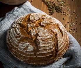 Pão de mistura de centeio e ervas