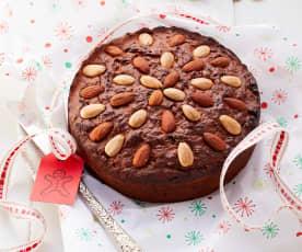 Vánoční koláč se sušeným ovocem a mandlemi