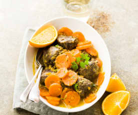 Joue de porc aux carottes et à l'orange