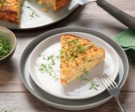 Gemüse-Fritatta mit Kresse