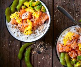 Pokè bowl al salmone