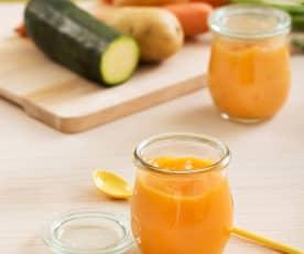 Purée ziemniaczane z marchewką i cukinią (dla dzieci)