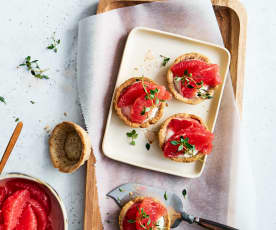 Grapefruit-Tartelettes
