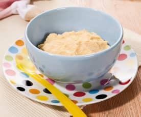 Reis mit Steckrüben und Lammfleisch