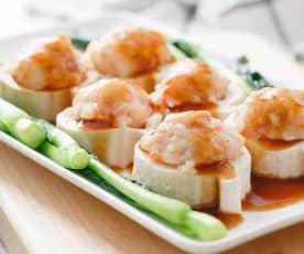 Prawn Paste Stuffed Soft Tofu