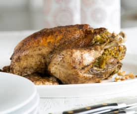 Middle eastern stuffed chicken