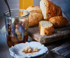 Pan de queso feta y aceitunas