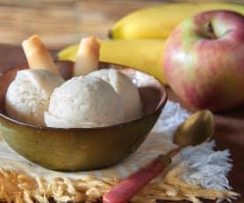 Gelato banane, mele e yogurt