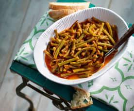 Grüne-Bohnen-Gemüse - Zeytinyağlı Taze Fasulye