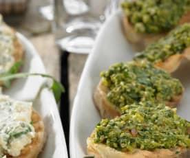 Bruschetta mit Olivencreme