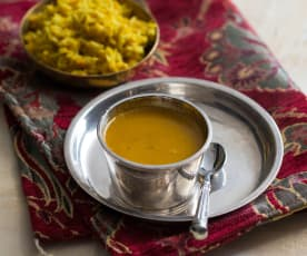 Curried chicken rasam