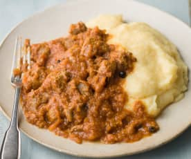 Mixed Meat Stew with Polenta - Spezzatino misto con polenta