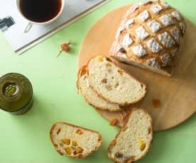 酒釀芒果麵包