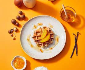 Macadamiawaffeln mit Orangensauce
