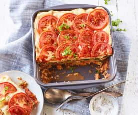 Bloemkool-spinazie lasagne