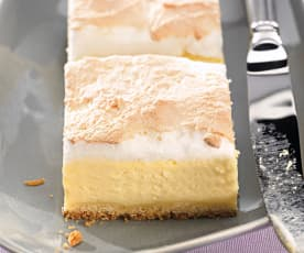 Cheesecake de natillas y merengue