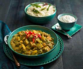 Sabji (vegetable) curry